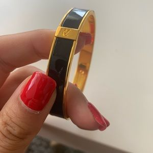 Vince Camuto gold and black bangle
